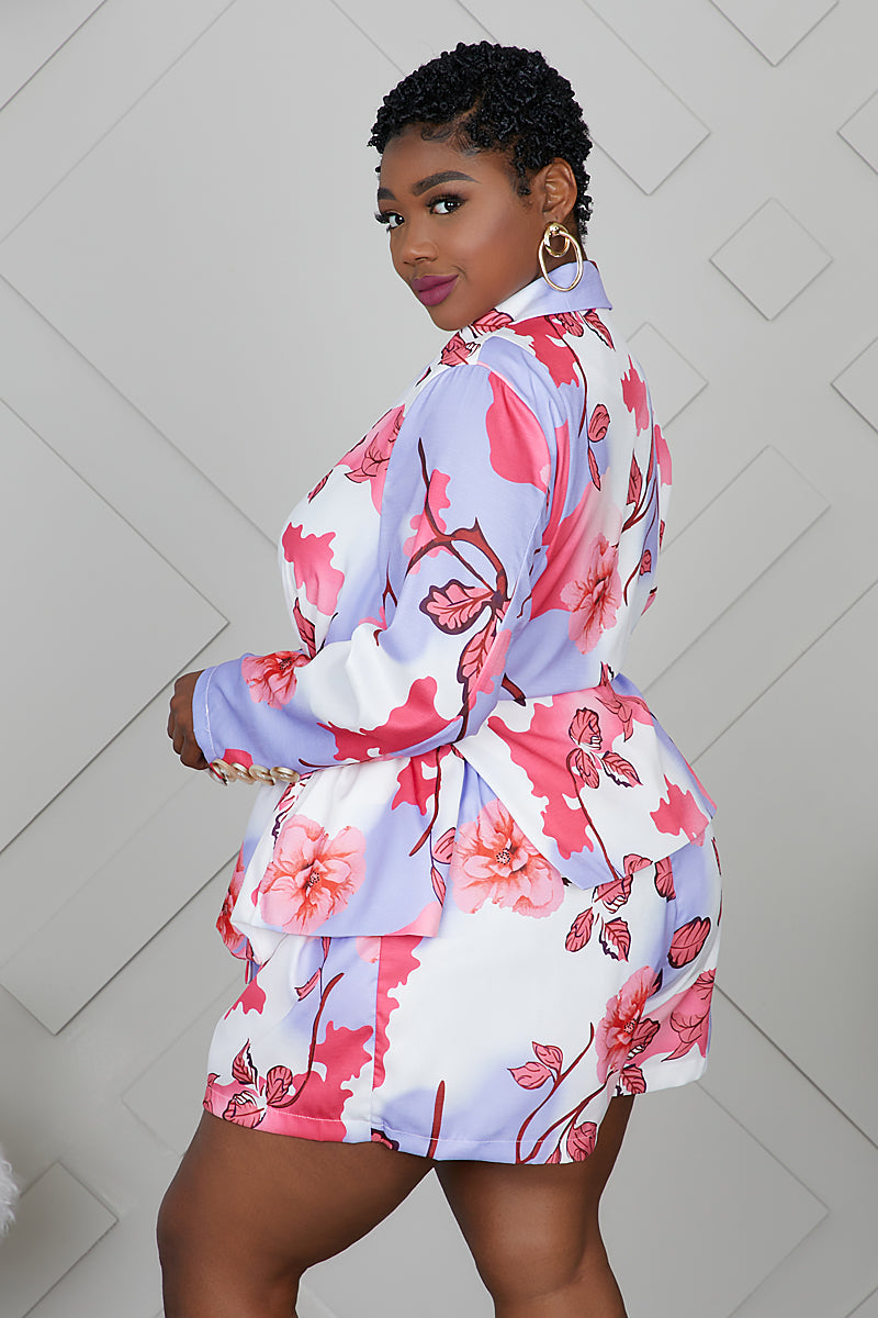 Curvy Floral Suit Set