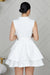 Ruffled Up Skater Dress (White)