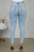 High Rise Distressed Jeans (Light Wash)