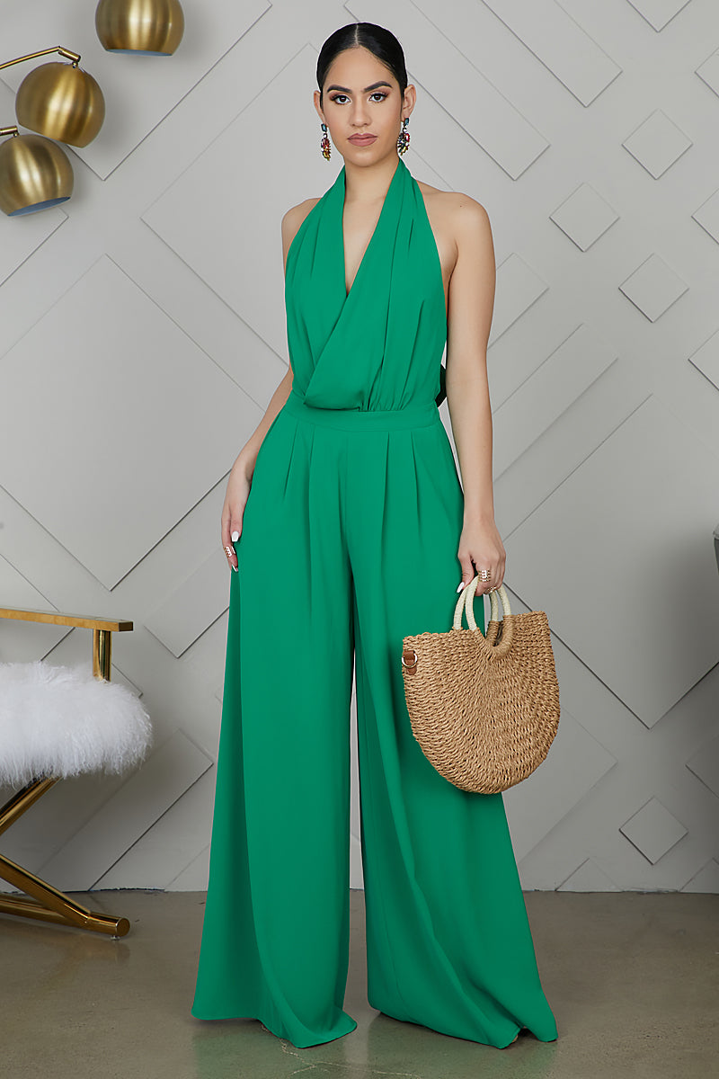 Wide Leg Jumpsuit (Green)