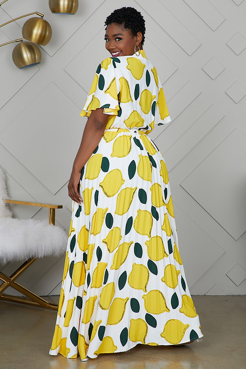 Curvy When Life Gives You Lemons Dress