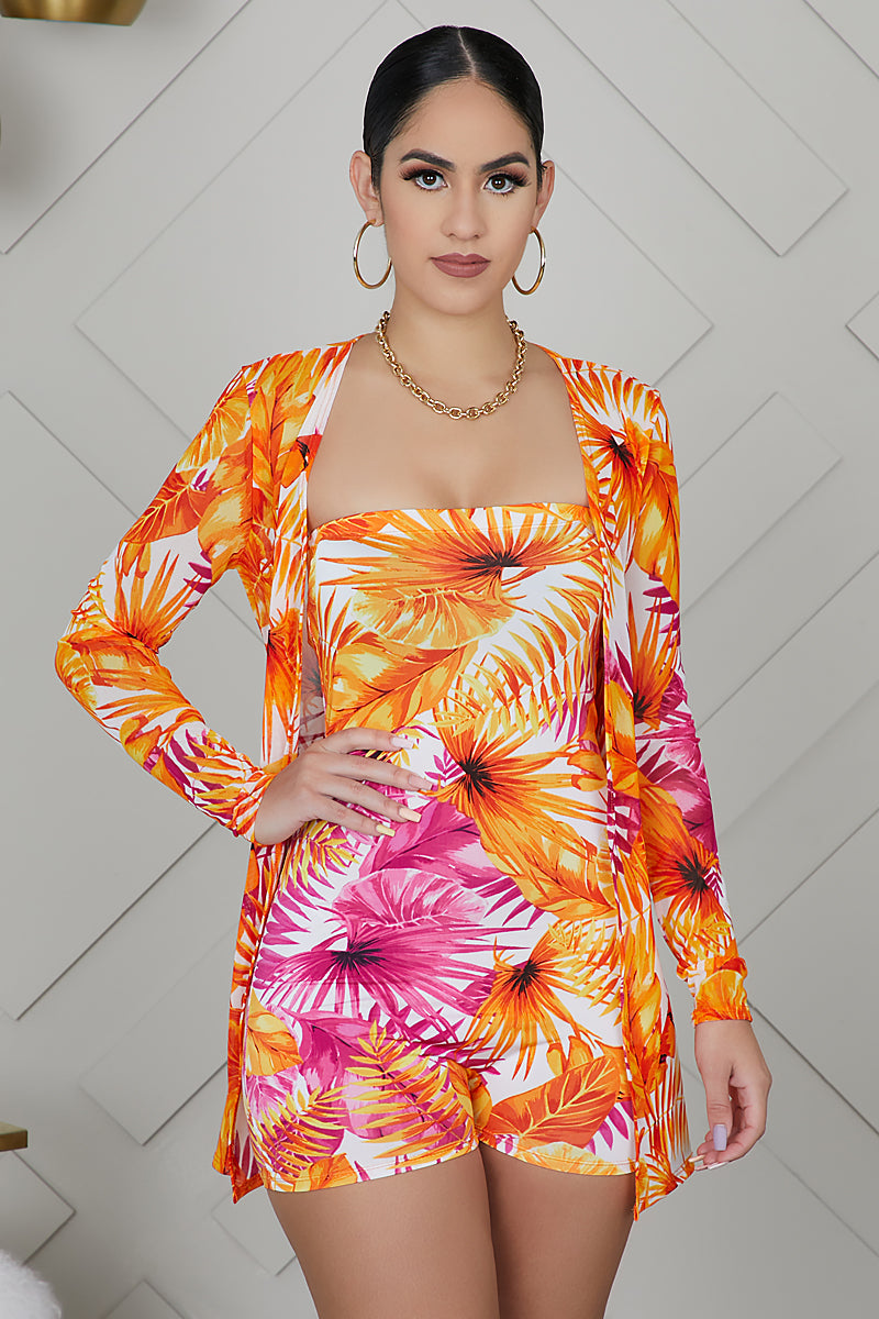 Sunset Romper Set (Orange)