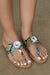 Big Jewel Thong Sandal (Multi Snake)