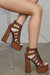 Platform Cheetah Lace Up Heel - FINAL SALE