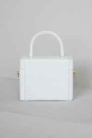 What The Croc Box Bag (White)