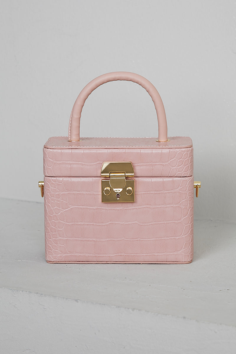 What The Croc Box Bag (Pink)