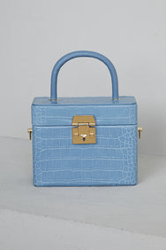 What The Croc Box Bag (Blue)