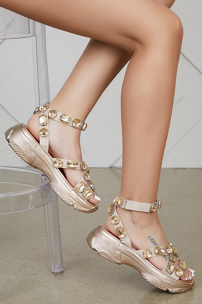 Jewel Sandals (Rose Gold)- PREORDER SHIPS END OF APRIL
