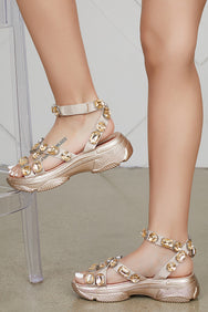 Jewel Sandals (Rose Gold)- PREORDER SHIPS END OF MAY