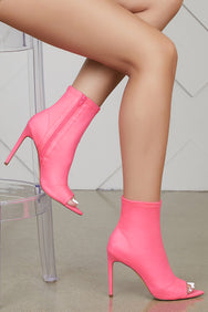 Straight To The Point Bootie (Neon Pink)