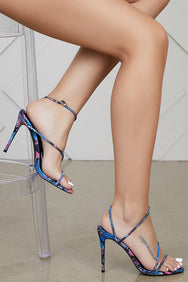 Viper Multi Color Snake Heel