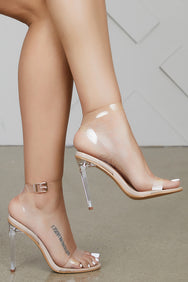 Transparent Sandal (Clear/Nude)