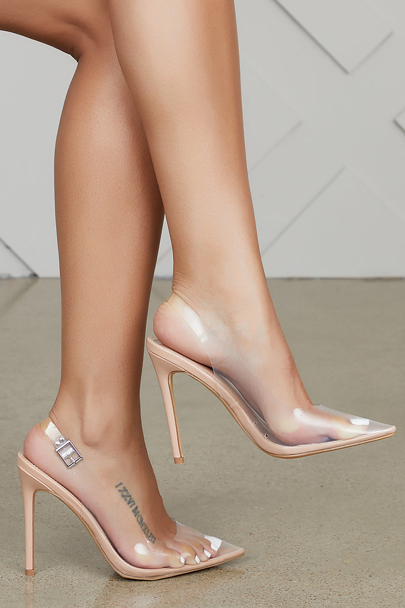 Seamless Transparent Pumps (Nude)  Final Sale by Lilly's Kloset