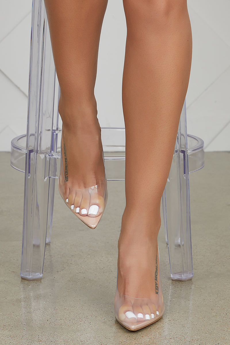 Seamless Transparent Pumps (Nude)