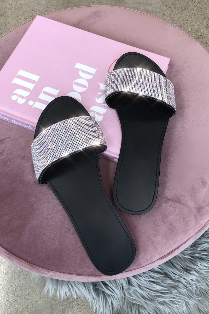 Shine Bright Slides (Black)