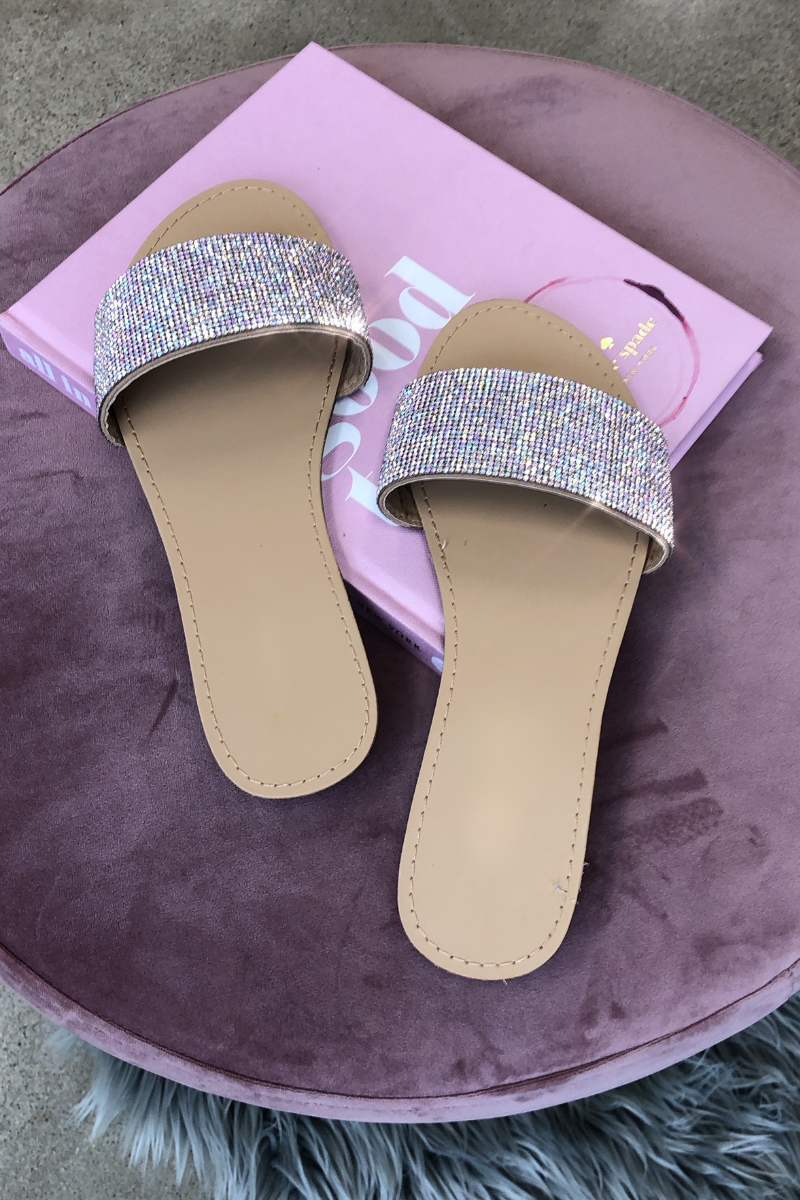 Shine Bright Slides (Taupe)