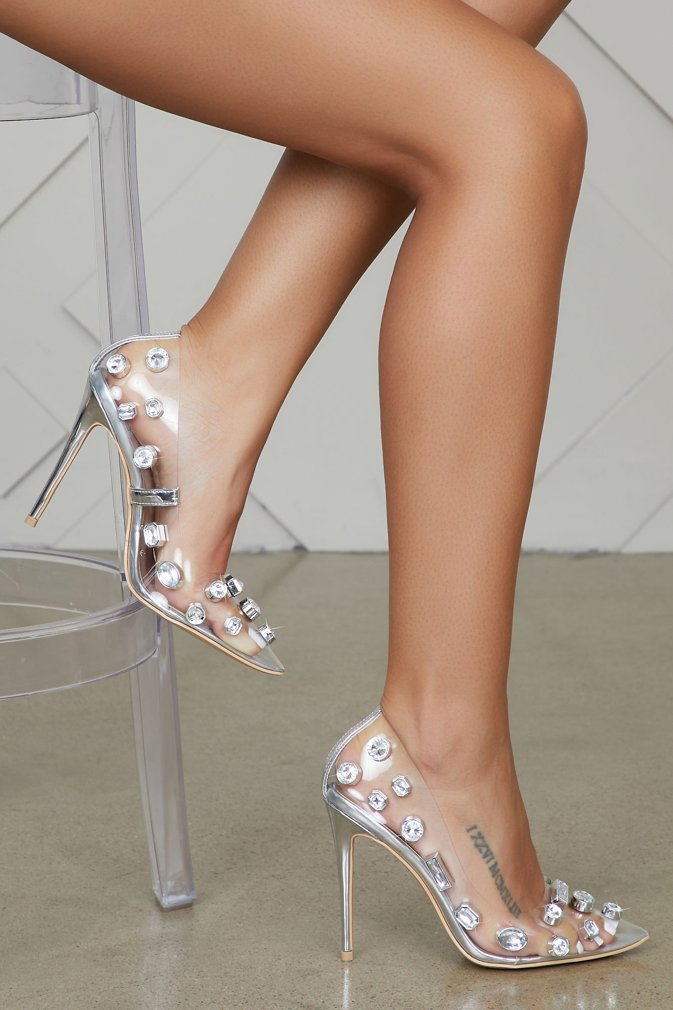 Alexa Transparent Jewel Pump