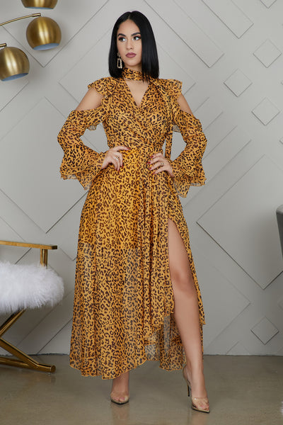 Queen Of The Jungle Wrap Dress