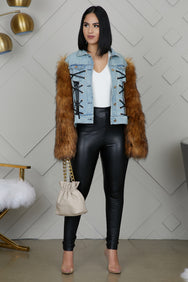 Portugal Faux Fur Denim Jacket