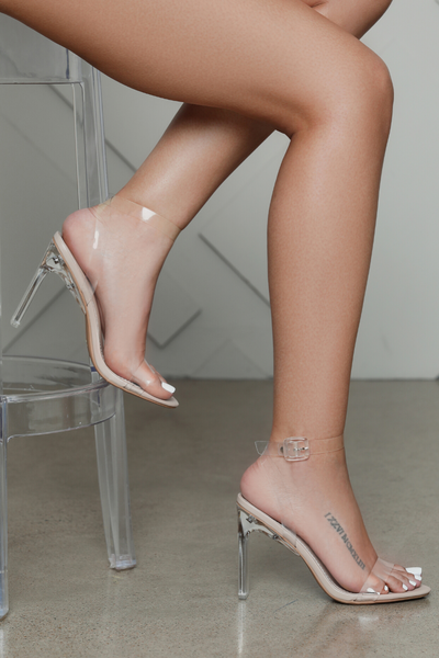 Atlanta Transparent PVC Buckle Heel