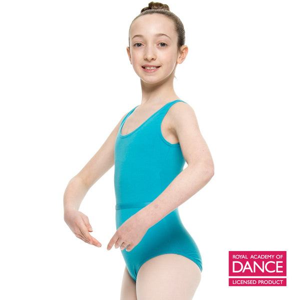 FREED of London ISTD MOLLY Leotard in Sapphire and Cherry