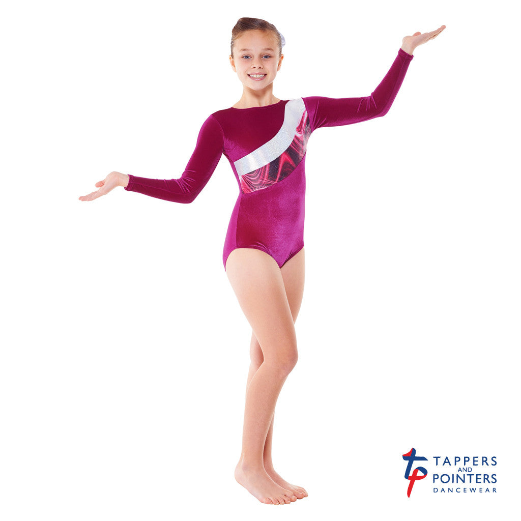 1649d1ac2 Tappers and Pointers Long Sleeved Smooth Velvet and Solaris Leotard