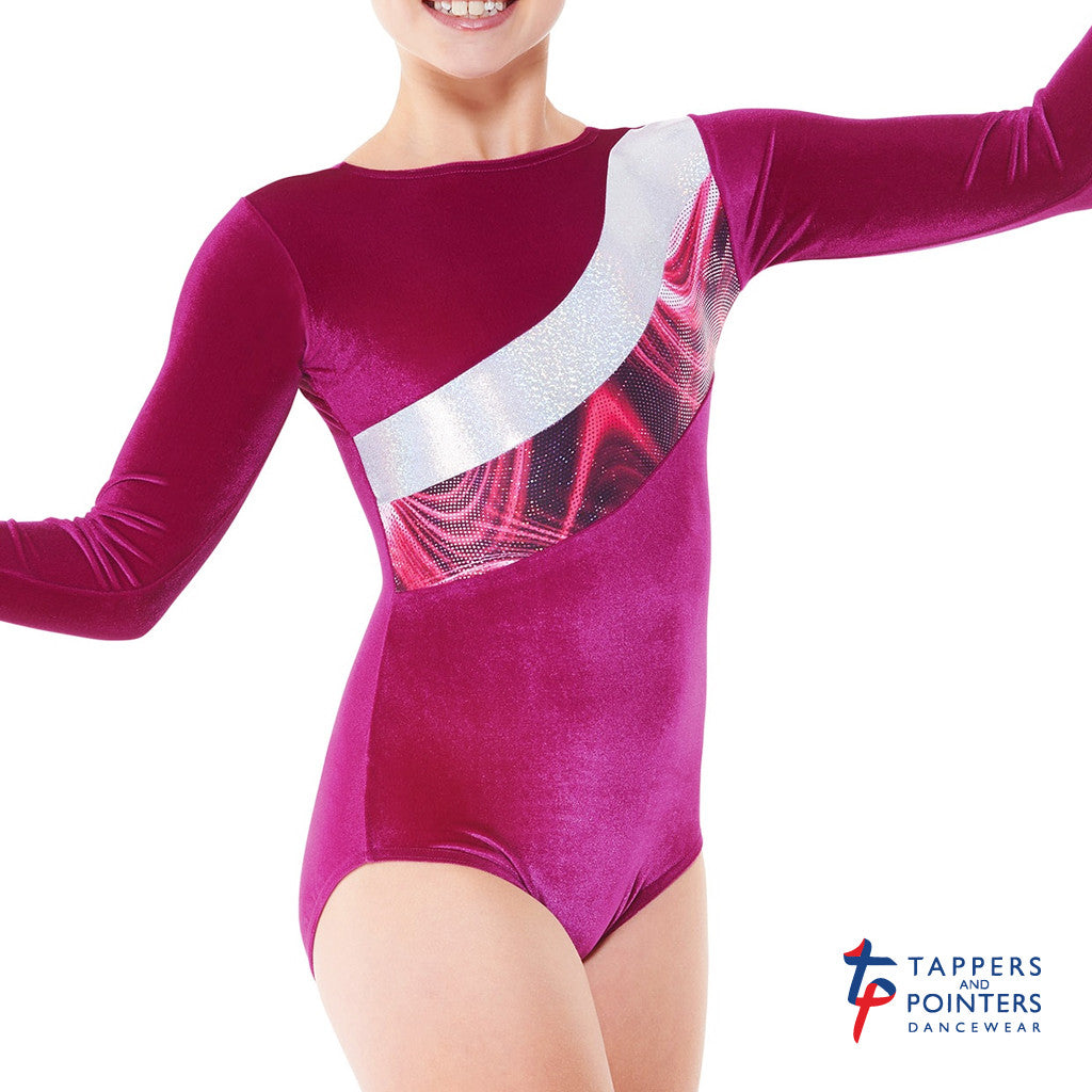 0c5f654a5 Tappers and Pointers Long Sleeved Smooth Velvet and Solaris Leotard ...