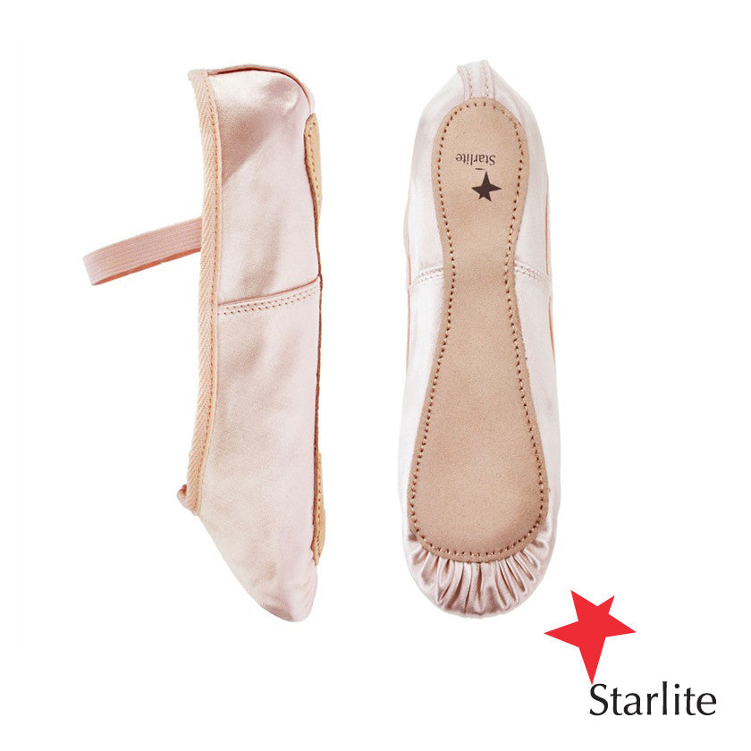 ec8e0417a83e Starlite Satin Ballet Full Sole Shoes