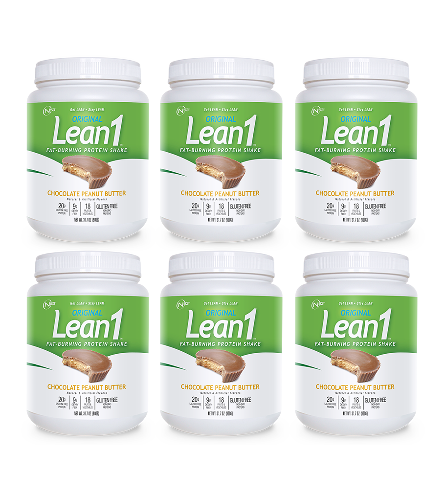 Lean1 Chocolate Peanut Butter (6 tubs)