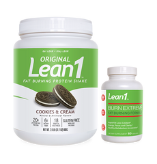 Lean1 Cookies & Cream + Burn Extreme
