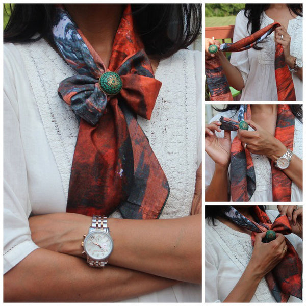 Square Scarves and Rings : 5 looks