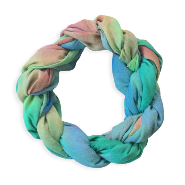 Chetna Singh multi-color tie-dye print cotton scarf.
