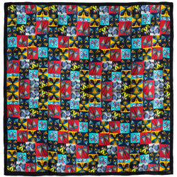 Chetna Singh multi-color butterfly print silk pocket square
