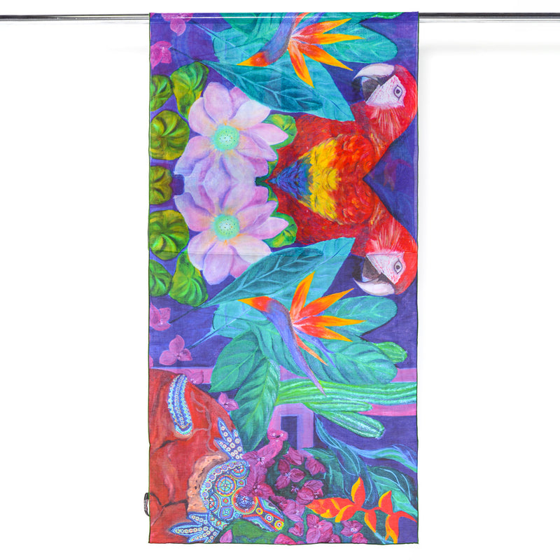 Mexico Frida - Long Silk Cotton Scarf