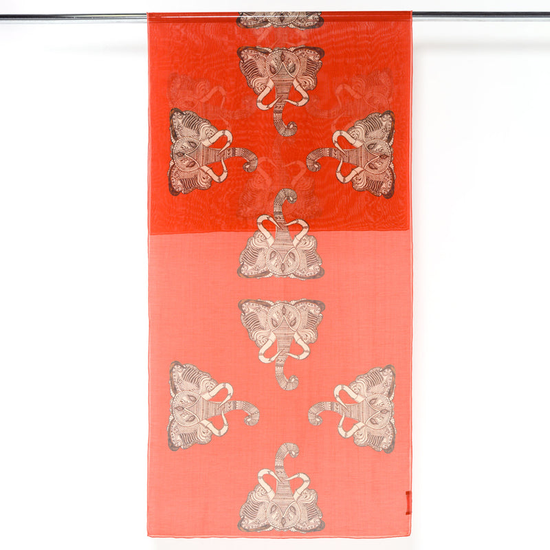Thailand Elephants - Long Silk Cotton Scarf