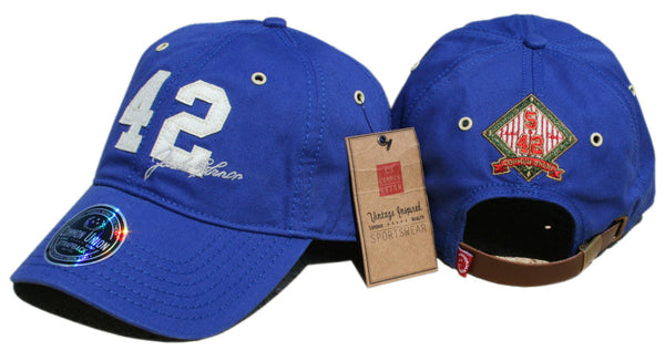 "42 Jackie Robinson ""Signature"" Base Stealer Slouch Cap"