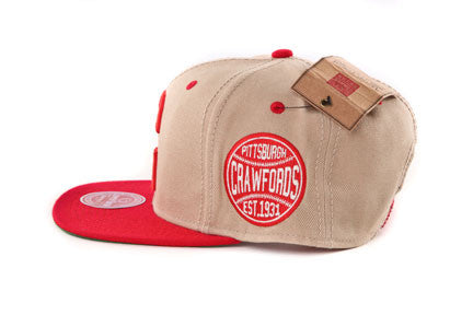 Pittsburgh Crawford Two Tone Khaki Snapback