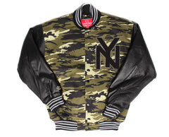 New York Blk Yankees Premium Camo Varsity Jacket