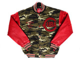 Cuba National Premium Camo Varsity Jacket