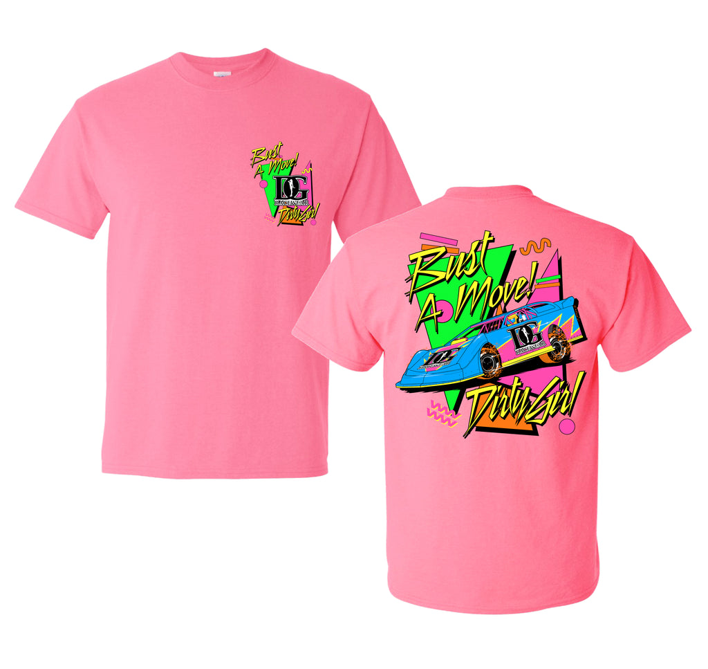 Bust A Move - Neon 90's Inspired Dirt Late Model Racing T-Shirt
