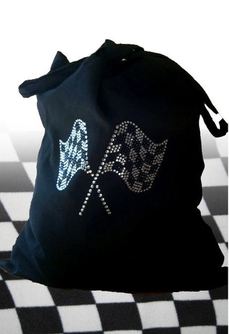 Bling Checkered Flag Tote Bag