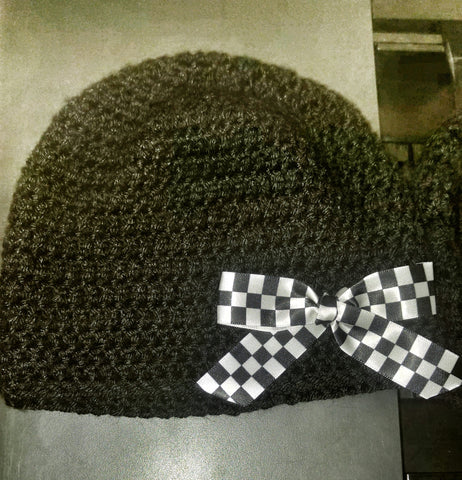 Handmade Beanie Style Checkered Racing Hat