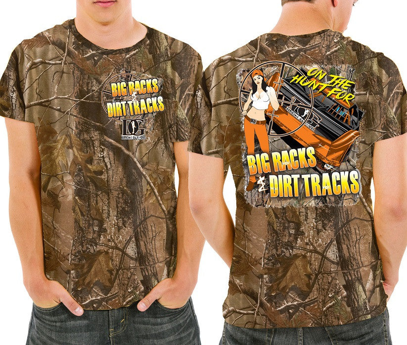 Dirt Late Model Racing Men's Realtree Camo T-Shirt from Dirty Girl Racewear