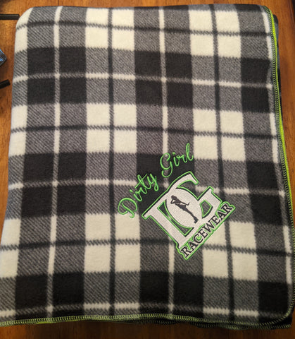 Checkered Flag Fleece Blanket
