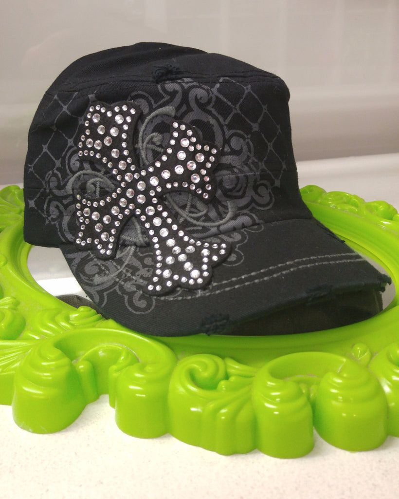 Cadet Style Hats w/ Bling