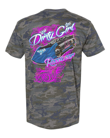 Vintage Camo Dirty Girl Racewear T-Shirt