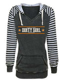 Classy & Sassy Dirt Modified & Dirt Late Model Striped Sleeve Hoodie