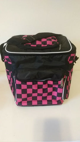 Soft Sided Pink & Black Checkered Cooler (great diaper bag too)