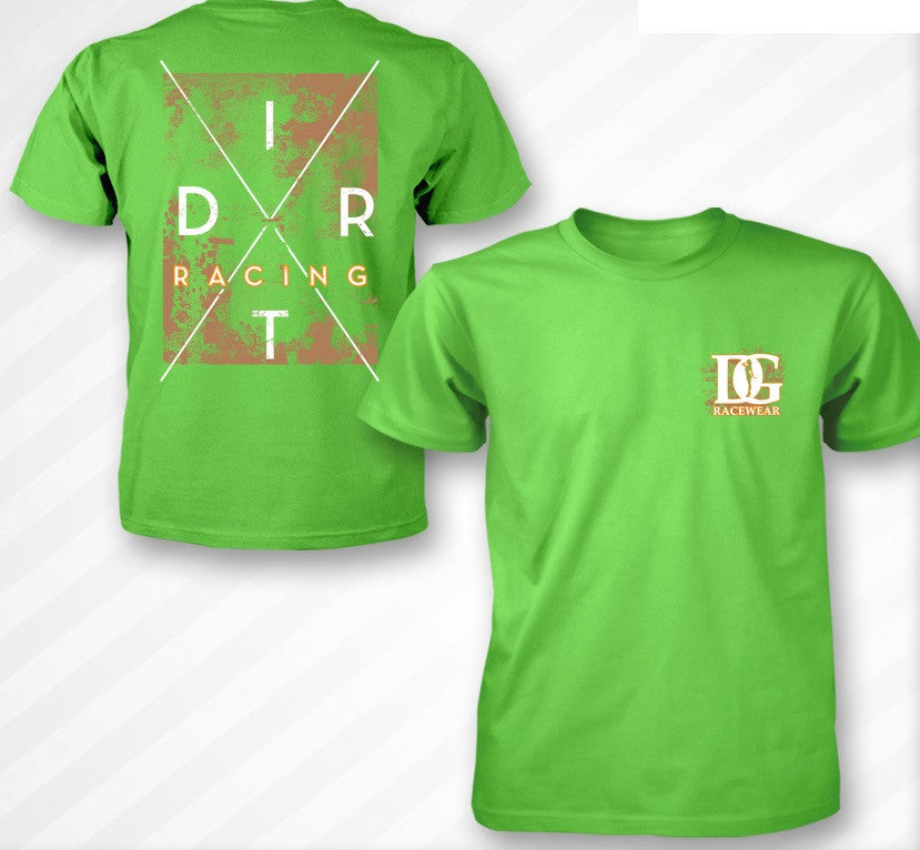 Dirt Racing Lime Green T-Shirt