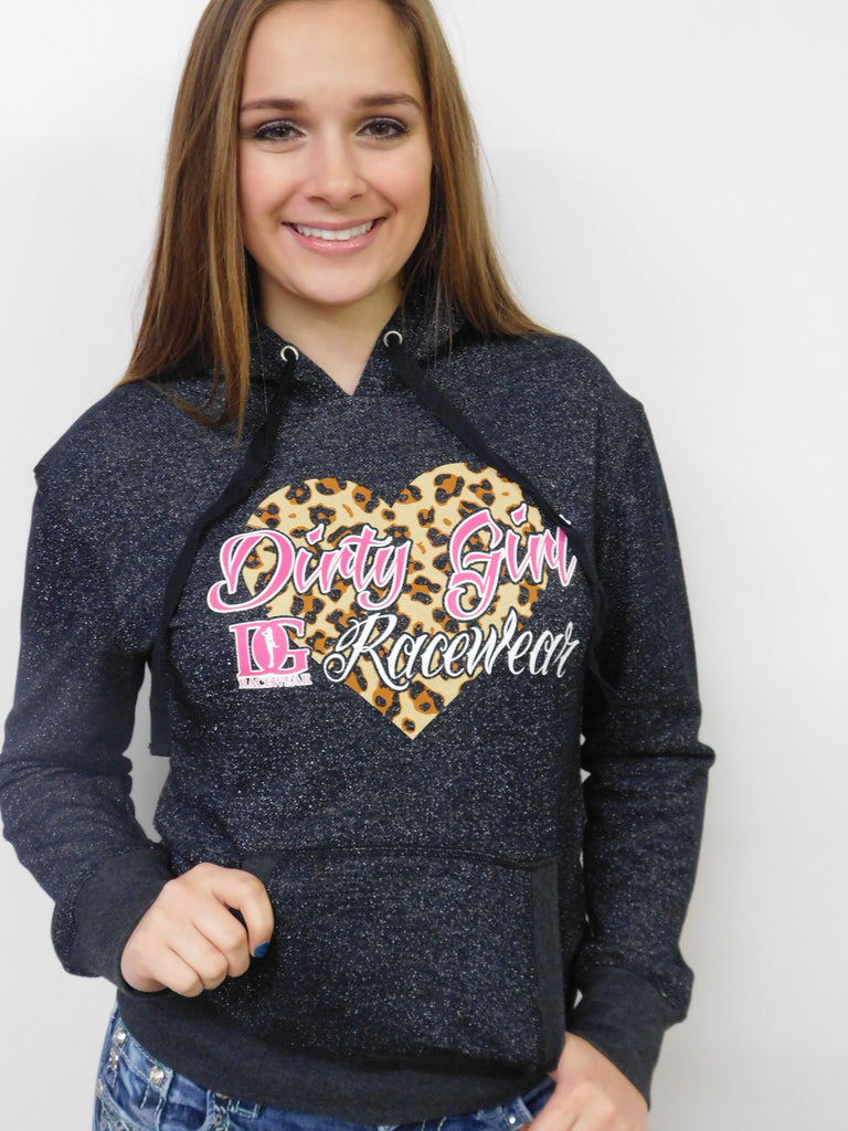 My Kind of Wildlife - Dirt Late Model Glitter Hoodie